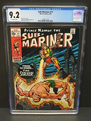 Marvel Comics Sub-Mariner #17 1969 Cgc 9.2 Owp Marie Severin Cover Art