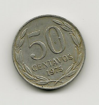 World Coins - Chile 50 Centavos 1975 Coin KM# 206 ; Lot-C2