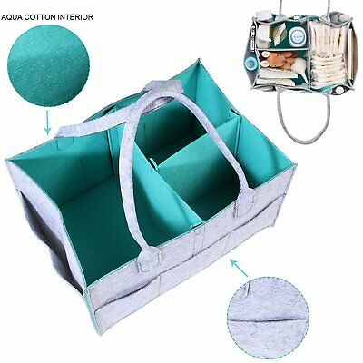 Baby Diaper Caddy Nursery Storage Bin Infant Wipes Bag Nappy Organizer Basket