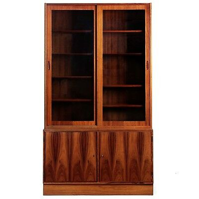 Danish Mid Century Modern Rosewood Bookcase Display Cabinet by Poul Hundevad