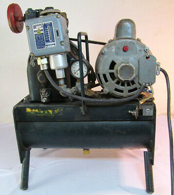 "Antique/vintage Air Compressor ""a-Quick Way Product"" With Dayton 1/2 H.p. Motor"
