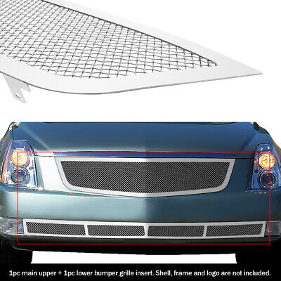 Fits 2006-2011 Cadillac DTS Stainless Mesh Grille Grill Combo Insert