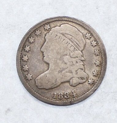 BARGAIN 1834 Capped Bust Dime VERY GOOD Silver 10-Cents