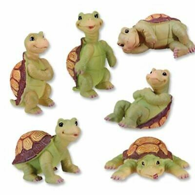 Summit Turtles Collectible Statue Set of Six Small Turtle Animal Collection