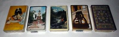 NOS Lot of 5 Vintage 40's 50's Decks of Playing Cards SEALED