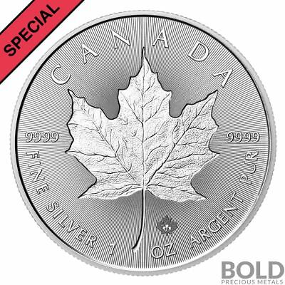 2018 1 oz .9999 Silver Canada Maple Leaf Incuse BU Coin