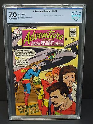 DC ADVENTURE COMICS #371 1968 CBCS 7.0 SUPERBOY 1st CHEMICAL KING/LEGION ACADEMY