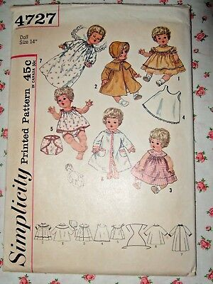 """Vintage Baby Doll Clothes Pattern ~ 19/"""" 20/"""" 21/"""" Tiny Tears Betsy Wetsy Dy Dee"""