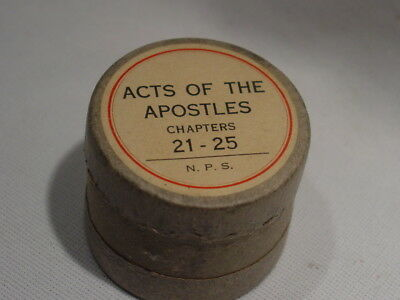 Old C1926 35MM Kodak Safety Film BIBLE Acts of the Apostles Chapters 21-25