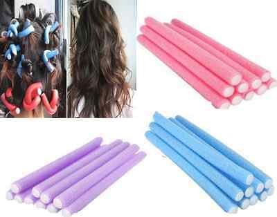 10Pcs Curler Makers Soft Foam Bendy Twist Curls Tool DIY Styling Hair Rollers