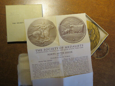 """Medallic Art Society Of Medalists: """"pony Express / Frontiers"""" #45 J. E. Fraser"""