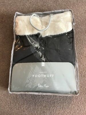 Silver Cross Luxury Footmuff - Faux Cream Fur/ Pewter - Fits Reflex/ Pop/ Zest