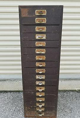 ANTIQUE VINTAGE WATCHMAKER WATCH REPAIR CABINET with 1000's NOS Crystal / Lens