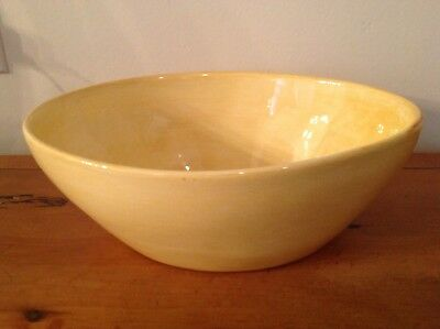 Hand-painted earthenware bowl from Sebastopol CA's Soule Studio in Amber 8 1/2""