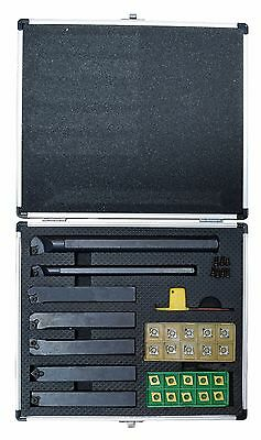 Complete Carbide Cutting Turning Tool Set - Metal Lathe Sized For Bxa Ccgt Ccmt