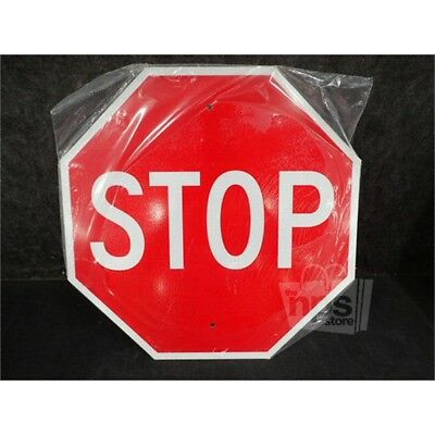 """BRADY 94143 Road Traffic Control Stop Sign, Aluminum, 24"""" x 24"""", Red/White"""