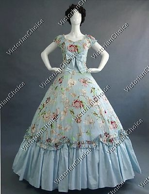 Victorian Old West Saloon Floral Dress Ball Gown Theater Clothing Wear 273 XXL
