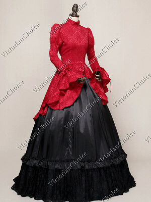 Victorian Edwardian Vintage Downton Abbey Dress Period Theater Clothing N 324 M