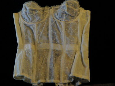 Vintage 1950s Strapless WARNER'S MERRY WIDOW Corset Girdle Lace 34-35 PinUp M12m