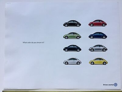 Vw New Beetle 1998 Poster What Color Do You Dream In