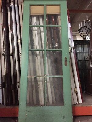 "Old Eight Light Door 79 1/2"" X 30 Art Deco Era"