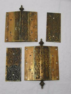 Lot of Vintage 1859  6x6 Inch 6 by 6 Door Hinges Antique Old Fancy Victorian