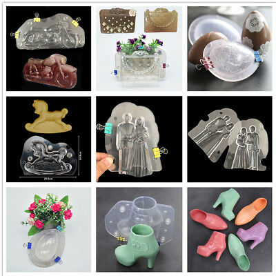 DIY 3D Cake Mold Soap Ice Mould For Candy Chocolate Bake Tool 7 Types