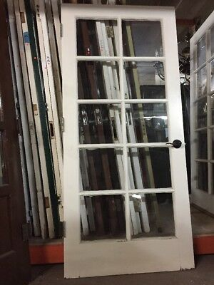 "Single French Door 10 Light With Tempered Glass 80"" X 36"