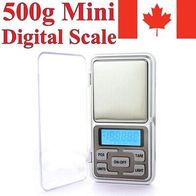 Digital Scale 500g x 0.1g Jewelry Gold Silver Gram Coin Grain Herb Pocket Size
