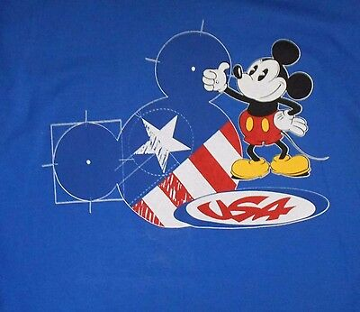 NWT Mickey Mouse American Flag Large T Shirt Disney Patriotic almost vintage