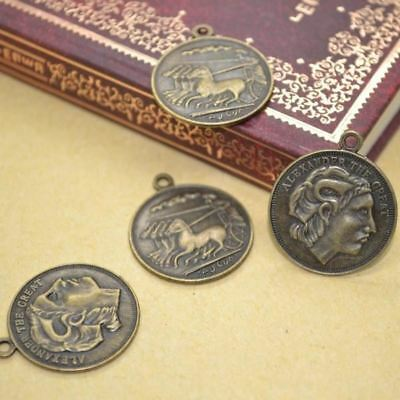 VERY COOL 40pcs/lot Antique VINTAGE STYLE pendant Coin CHARMS