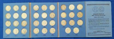 35-PIECE U.S. 90% Silver circulated FRANKLIN 50c set 1948-63d in used folder