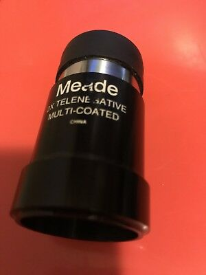 Meade 2X Telenegative Amplifier Barlow Lens Multi Coated