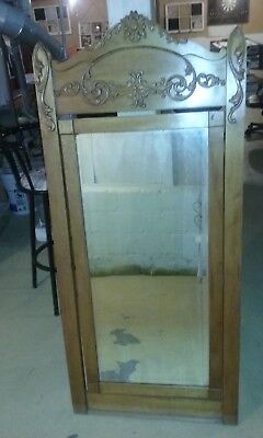 """Wow !! Vintage Antique French Ornate Wooden  Swivel Wall  Mirror 56"""" X 26"""""""