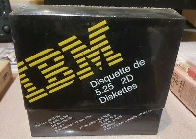 IBM 6023450 5.25 2D Diskettes - Box of 10. New sealed box. 5 1/4