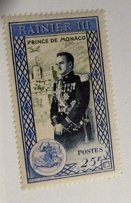 MONACO  Sc #252 * MH , aviation, horse, castle, royalty, postage stamp, Fine +