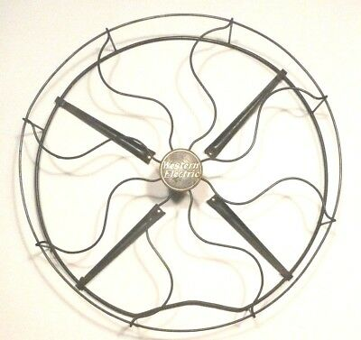 """vintage WESTERN ELECTRIC 16 """"  FANBLADE CAGE w/ 4 STEEL CONNECTING RODS"""