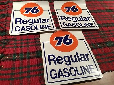 Union 76 Unleaded Gasoline racing sticker gas pump