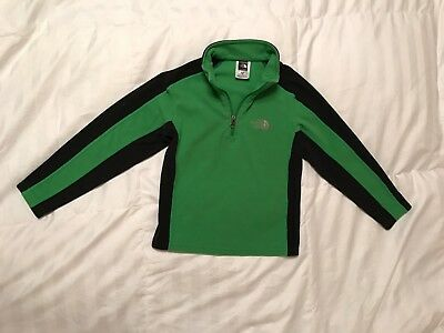North Face Toddler 1/4 Zip Two-Tone Fleece Pullover Green Size XS/TP