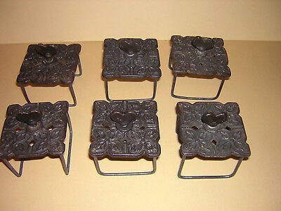 Antique Quilting Clamps Victorian Cast Iron, Signed 1895 Heart Keys Sewing Clamp