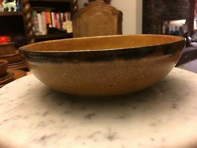 """Vintage McCoy Pottery Canyon Mesa 7 3/4""""  Serving Bowl Great Condition"""