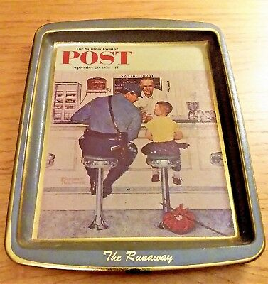 Norman Rockwell The Runaway Collectible Mini Tray
