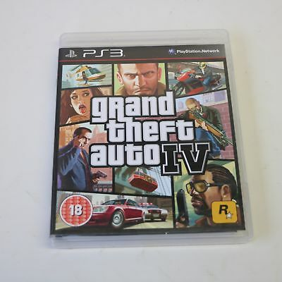 Grand Theft Auto Iv (Gta 4) With Map - Sony Playstation 3 Ps3 Game - Vgc