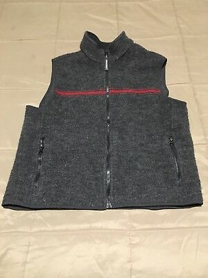 Men's Woolrich Vest~Sz Large~Gray~Red~See Pics