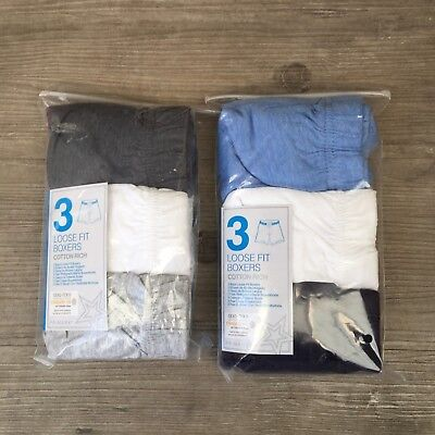 3 x Pairs Boys Primark Underwear Loose Fit Boxers Shorts Pants Age 5 - 15