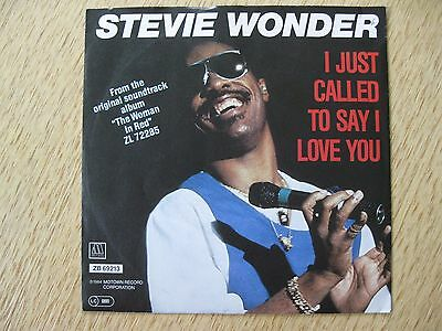 Single - STEVIE WONDER - I Just Called To Say I Love You - Motown