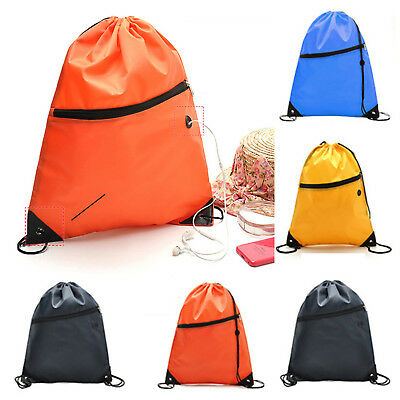 Drawstring Backpack School Gym Waterproof Swimming Duffle Sack Shoulder Bag