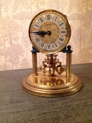 Vintage  Haller Quartz 400 Day Anniversary Torsion Clock Not Running 140x120mm