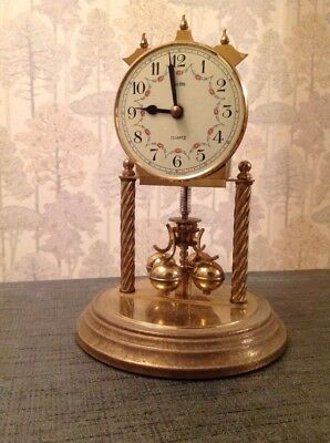 Vintage Acctim Haller Quartz 400 Day Anniversary Torsion Clock Running