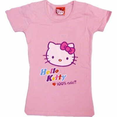 Girls Hello Kitty Short Sleeved T shirts Ages 4 6 8 years Pink